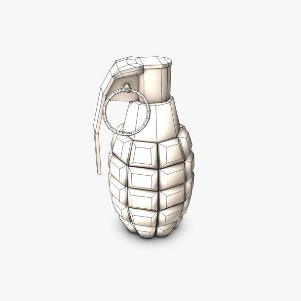 grenade lámh íseal polai samhail 3d 3ds max fbx c4d obj 139415