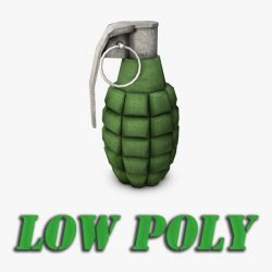 Low poly hand grenade ( 134.71KB jpg by Bondiana )