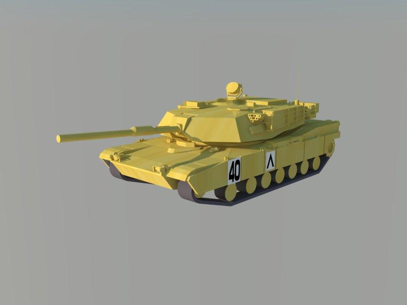 m1 abrams military tank 3d model 3ds dxf dwg skp obj 163455