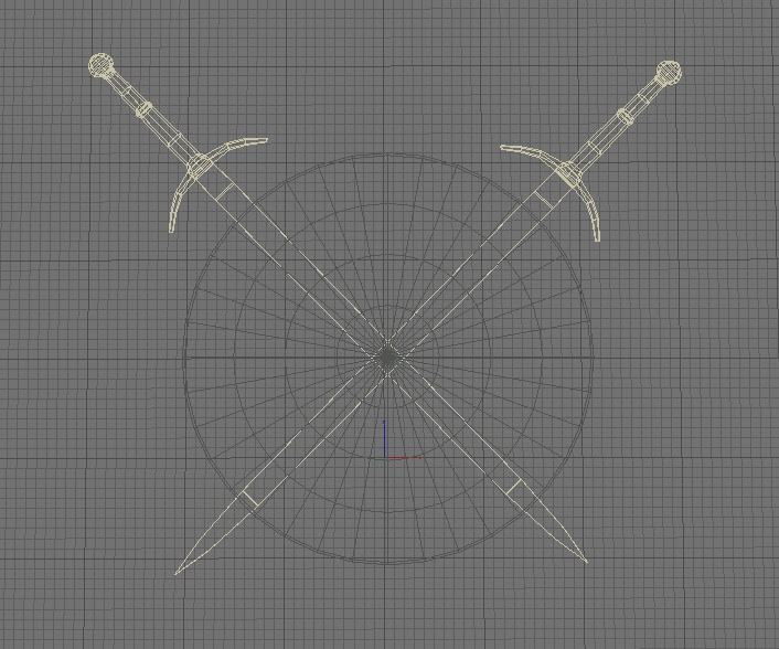 shield and sword 3d model 3ds max fbx c4d obj 138588