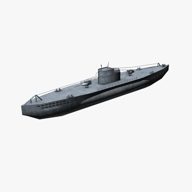 u-boat submarine 3d model 3ds max fbx c4d obj 138564
