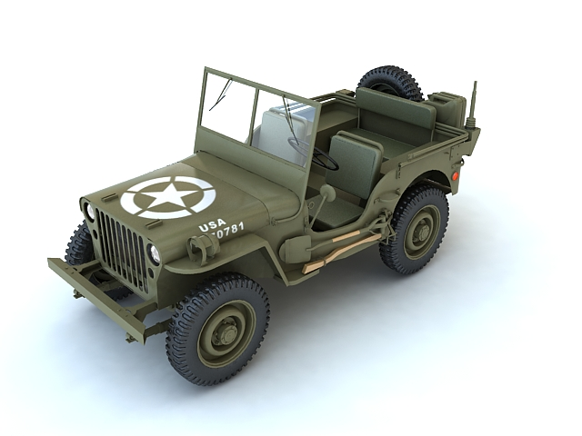 willys mb 3d model max 134203