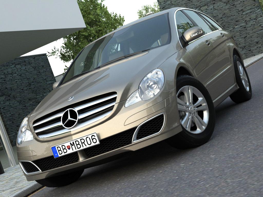 mercedes r-class (2007) 3d model 3ds max fbx c4d obj 84543