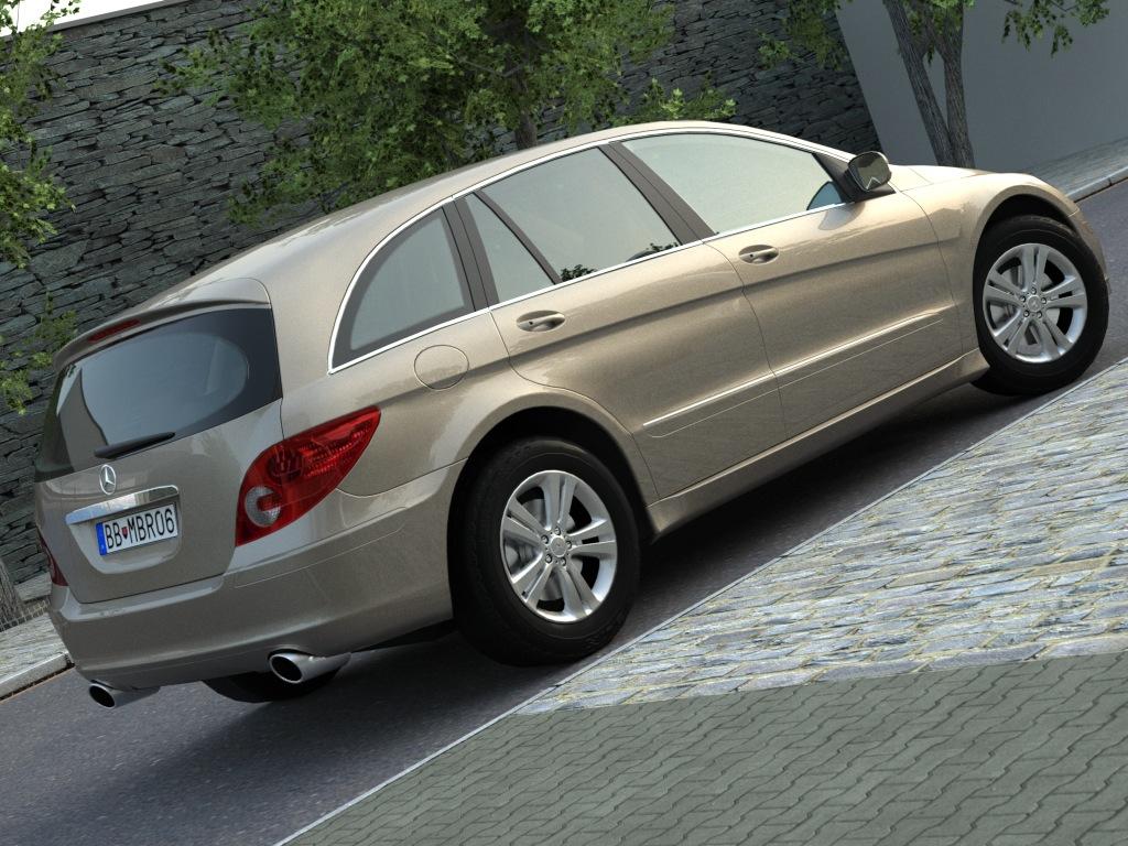 mercedes r-class (2007) 3d model 3ds max fbx c4d obj 84544