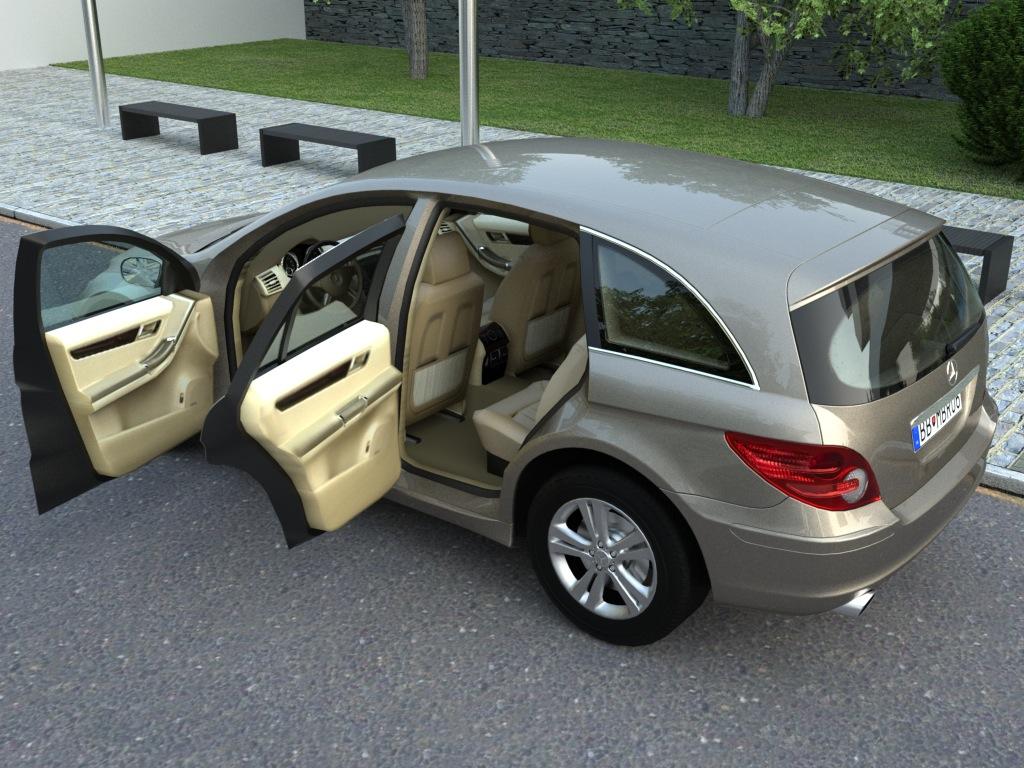 mercedes r-class (2007) 3d model 3ds max fbx c4d obj 84545