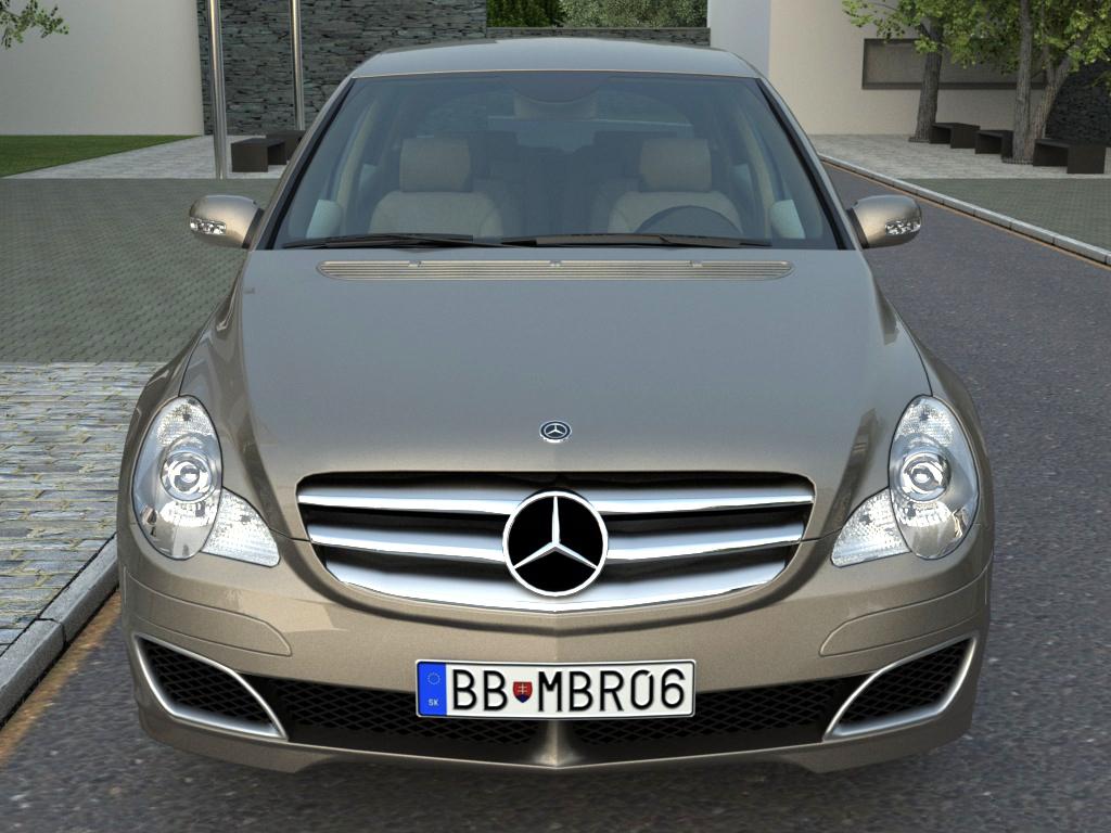 mercedes r-class (2007) 3d model 3ds max fbx c4d obj 84546