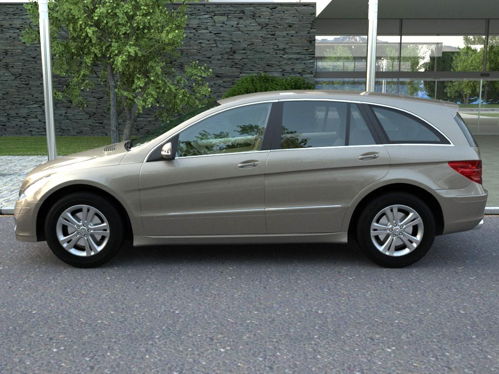 mercedes r-class (2007) 3d model 3ds max fbx c4d obj 84547