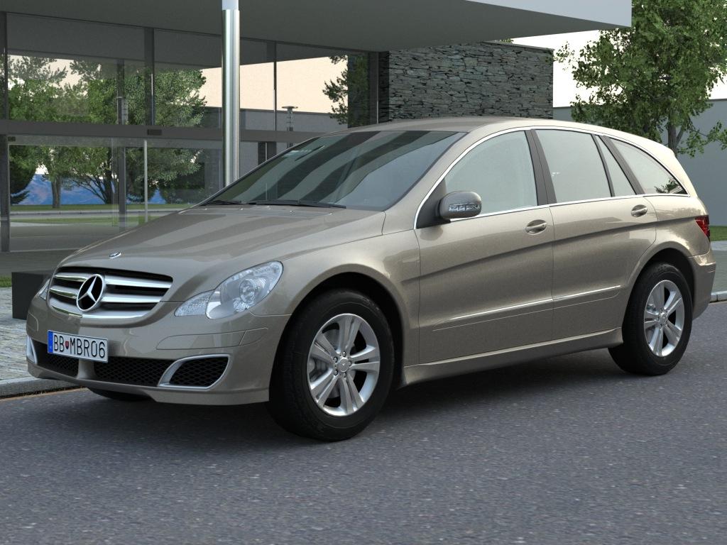 mercedes r-class (2007) 3d model 3ds max fbx c4d obj 84548