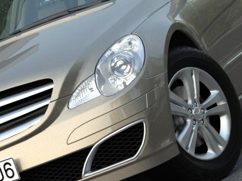 mercedes r-class (2007) 3d model 3ds max fbx c4d obj 84551