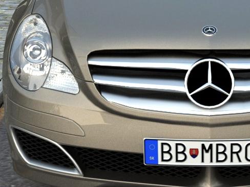 mercedes r-class (2007) 3d model 3ds max fbx c4d obj 84553