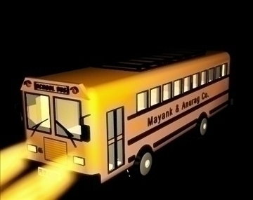 school bus design 9211 3d model max 111810