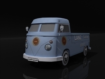 vw bulli 3d model 3ds max obj 108383