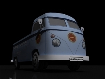 vw bulli 3d model 3ds max obj 108386