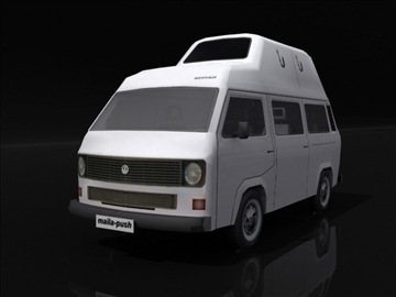 vw t3 high roof 3d model 3ds max obj 108395