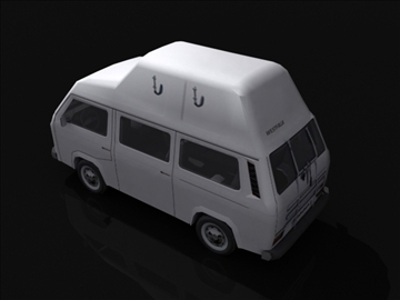 vw t3 high roof 3d model 3ds max obj 108396