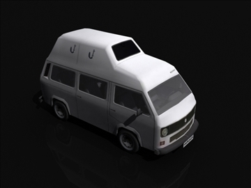 vw t3 high roof 3d model 3ds max obj 108397