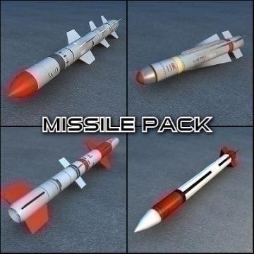 missile collection 3d model other 77216