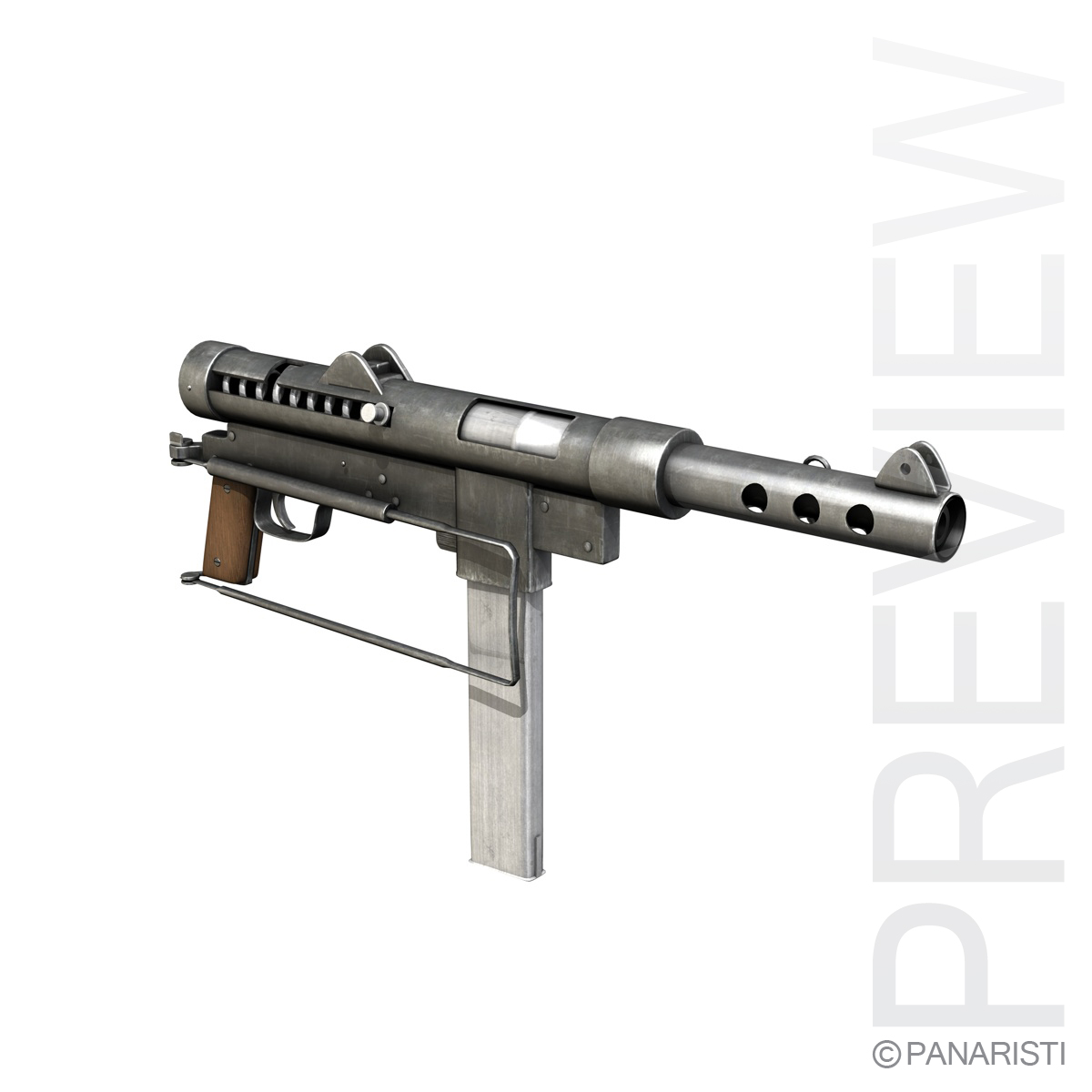 carl gustav m45 swedish k smg 3d model 3ds c4d lwo obj 96414