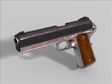 colt 1911 next gen weapon 3d model 3ds maks obj 88188