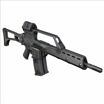 rifle d'assalt g36 model 3d 3ds c4d lwo obj 107164