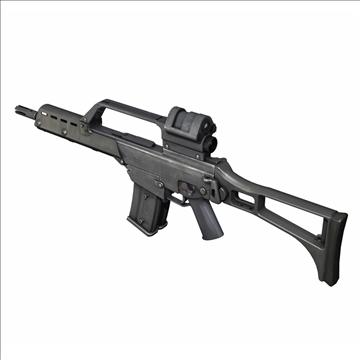 g36 assault rifle 3d model 3ds c4d lwo obj 107165