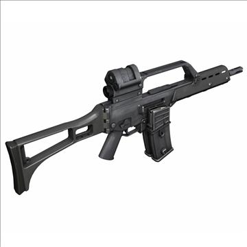 g36 assault rifle 3d model 3ds c4d lwo obj 107166