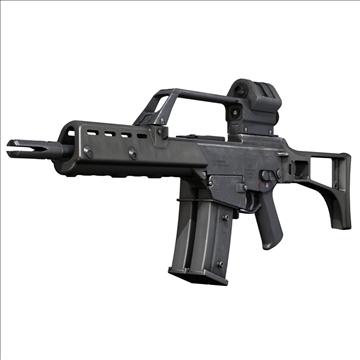 g36 assault rifle 3d model 3ds c4d lwo obj 107167