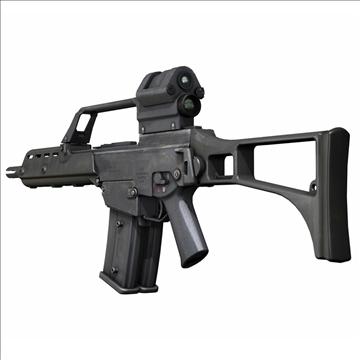 g36 assault rifle 3d model 3ds c4d lwo obj 107168