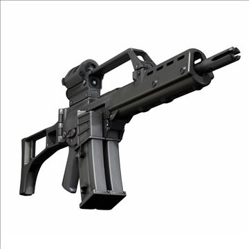 g36 assault rifle 3d model 3ds c4d lwo obj 107169