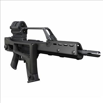g36 assault rifle 3d model 3ds c4d lwo obj 107170