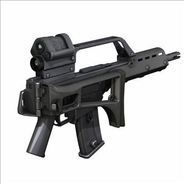 g36 assault rifle 3d model 3ds c4d lwo obj 107171