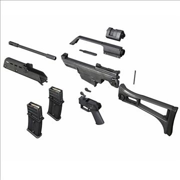 g36 assault rifle 3d model 3ds c4d lwo obj 107172