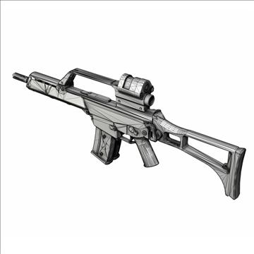 g36 assault rifle 3d model 3ds c4d lwo obj 107173