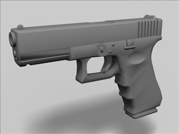 glock 17d 3d model 3ds max obj 88193