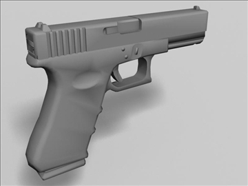 glock 17 3d model 3ds max obj 88194