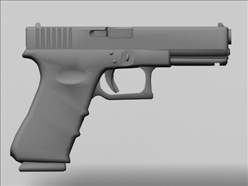 glock 17 3d model 3ds max obj 88195