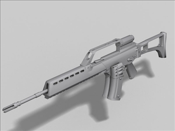 hk g36 next generation weapon 3d model 3ds max obj 88197