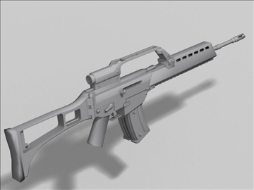 hk g36 nākamās paaudzes ierocis 3d modelis 3ds max obj 88198