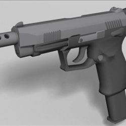 K100 automatic  next generation weapon 3d model ( 35.04KB jpg by weapons3d )