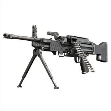 ljós machinegun mg43 3d líkan 3ds c4d lwo obj 96424