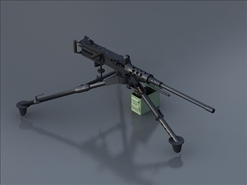 m2hb pulemyot 3d model 3ds max 106958