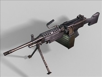 mk48 next generation weapon 3d model 3ds max obj 88213