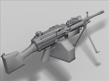 mk48 next generation weapon 3d model 3ds max obj 88215