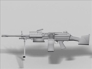 mk48 next generation weapon 3d model 3ds max obj 88216