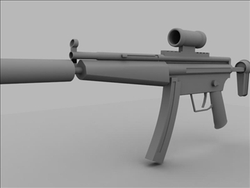 mp5 sub machine gun untextured 3d model max 110185
