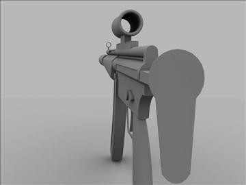 mp5 sub machine gun untextured 3d model max 110187