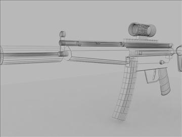 mp5 sub machine gun untextured 3d model max 110189