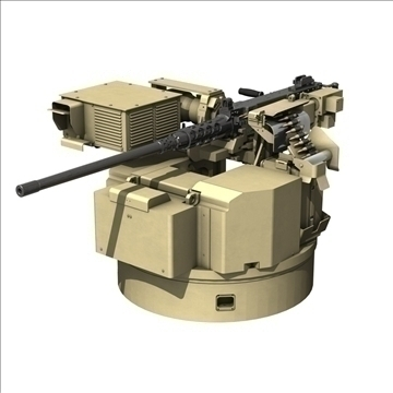 remote weapon station (rws) browning m2 3d model c4d 104416