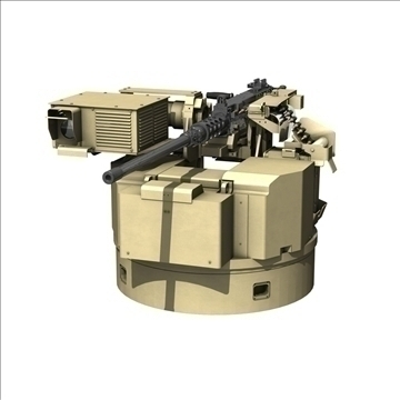 remote weapon station (rws) browning m2 3d model c4d 104417