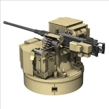 remote weapon station (rws) browning m2 3d model c4d 104418